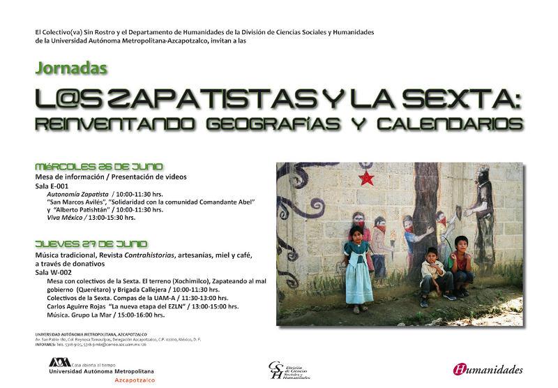 cartel jornadas zapatistas_uam