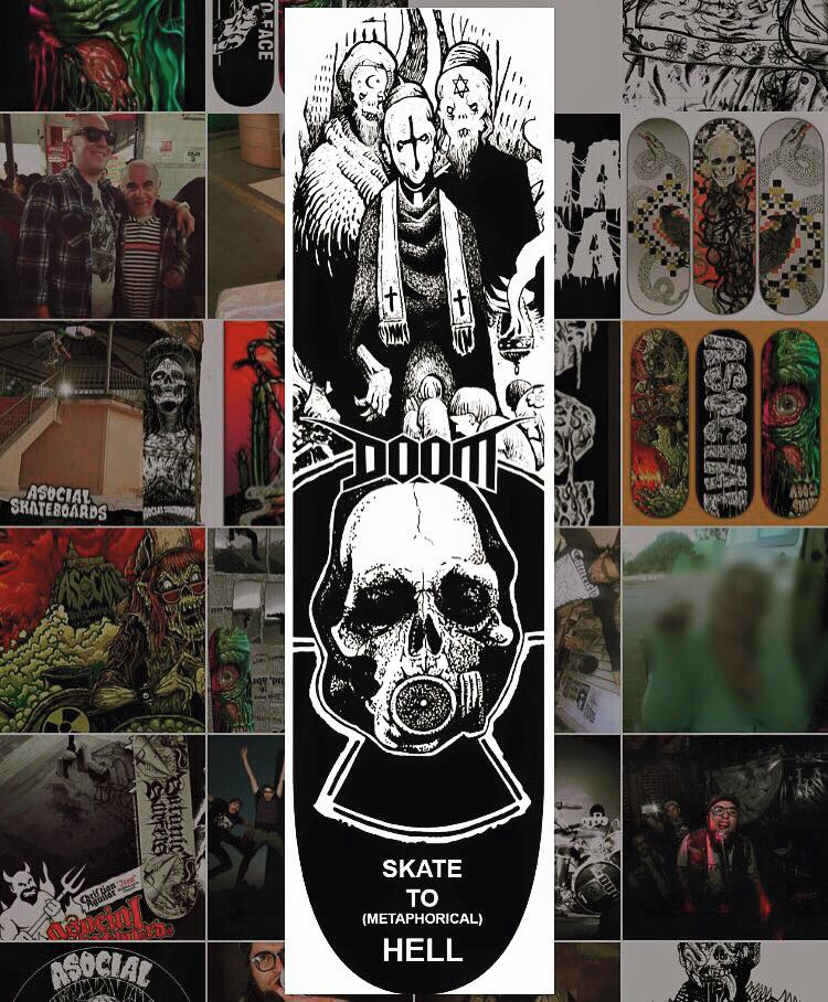 Doom skateboard Image
