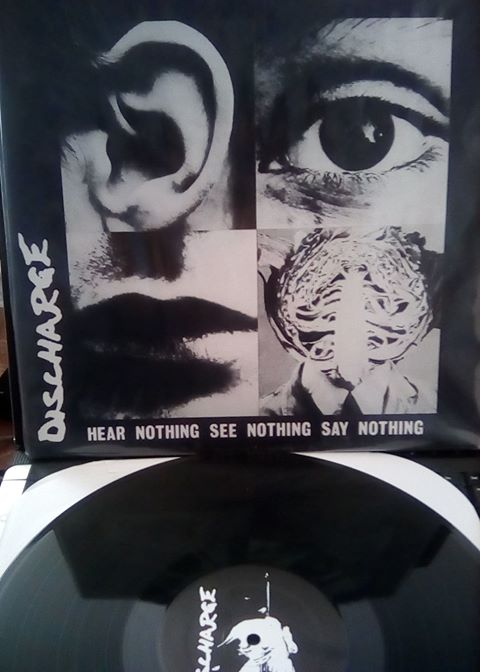 "LP Discharge ""Hear nothing, see nothing, say nothing"" Image"
